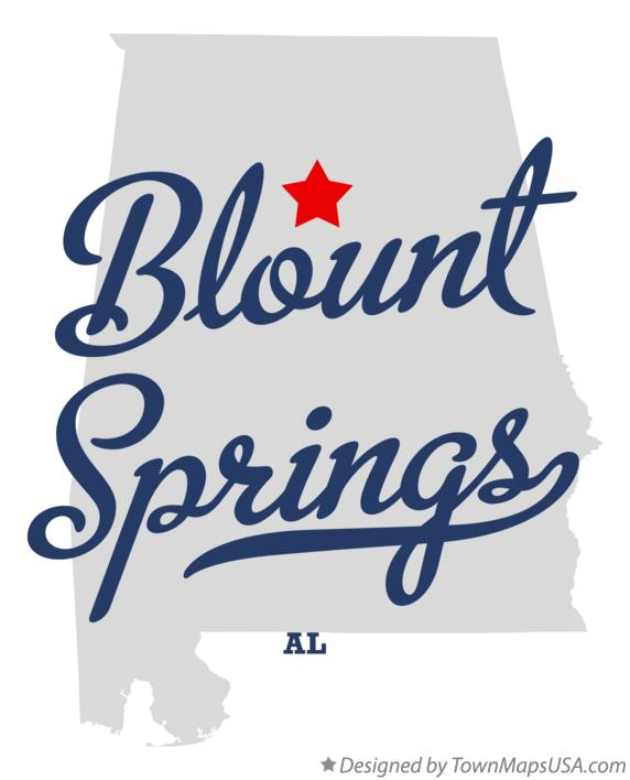 Map of Blount Springs Alabama AL