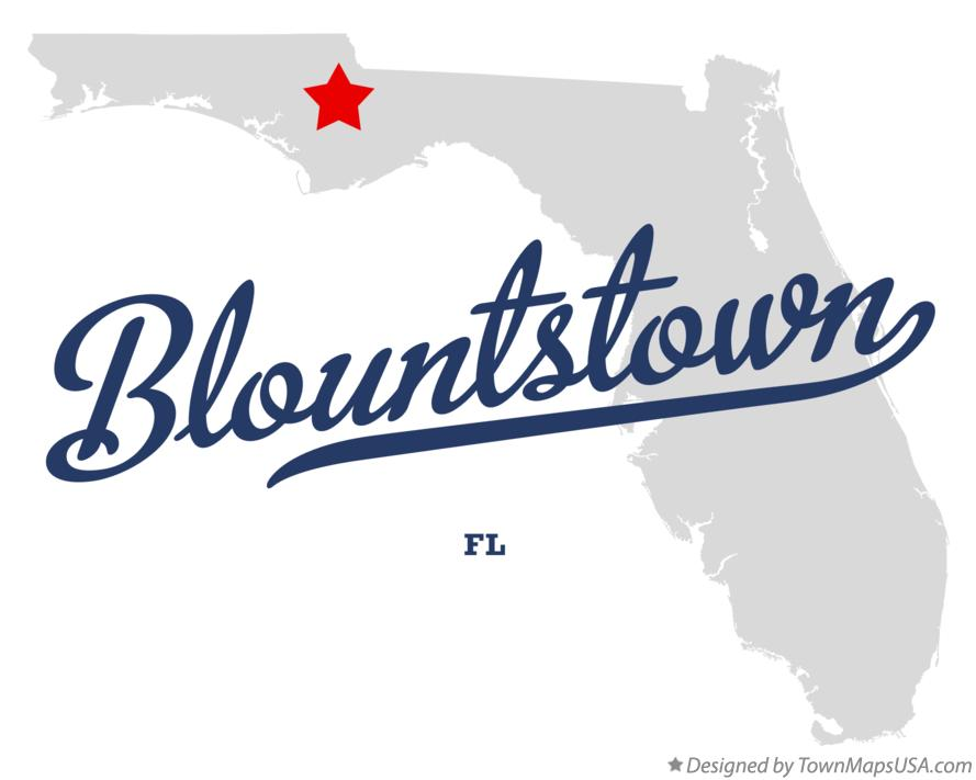 Map of Blountstown Florida FL