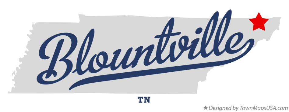 Map of Blountville Tennessee TN