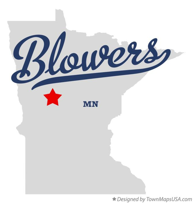 Map of Blowers Minnesota MN
