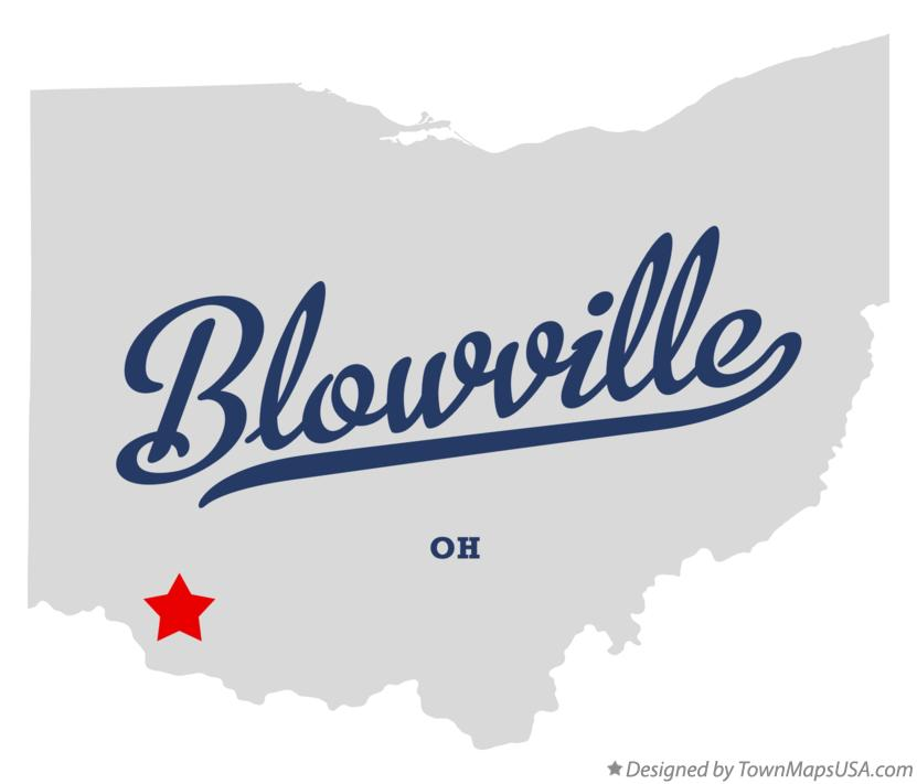 Map of Blowville Ohio OH