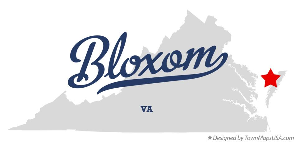 Map of Bloxom Virginia VA