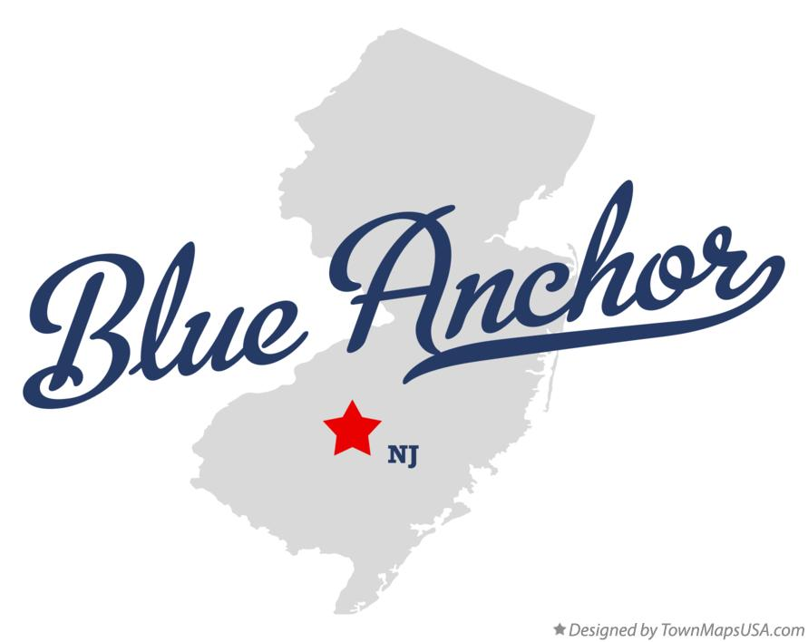 Map of Blue Anchor New Jersey NJ