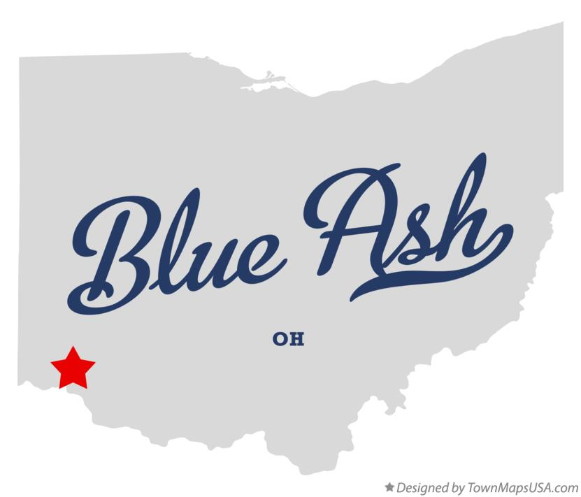 Map of Blue Ash Ohio OH