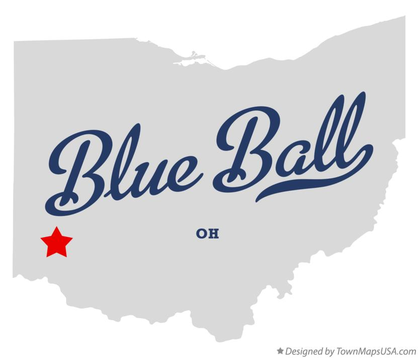 Map of Blue Ball Ohio OH
