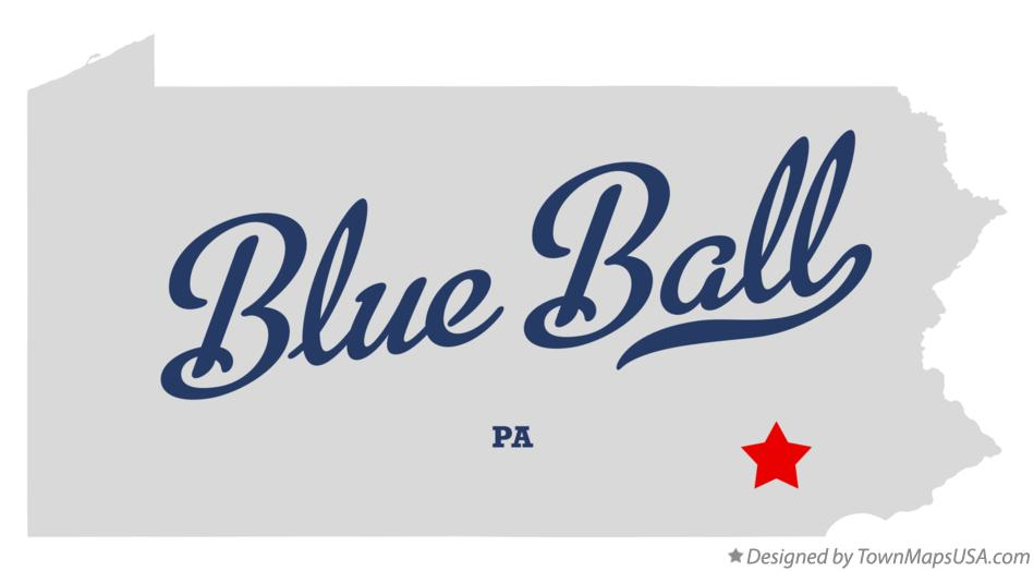 Map of Blue Ball Pennsylvania PA