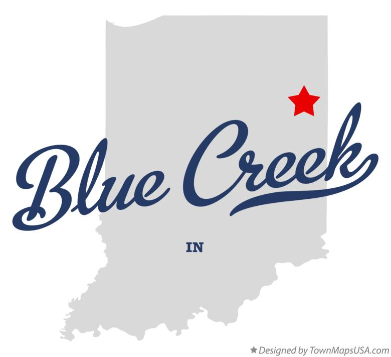 Map of Blue Creek Indiana IN