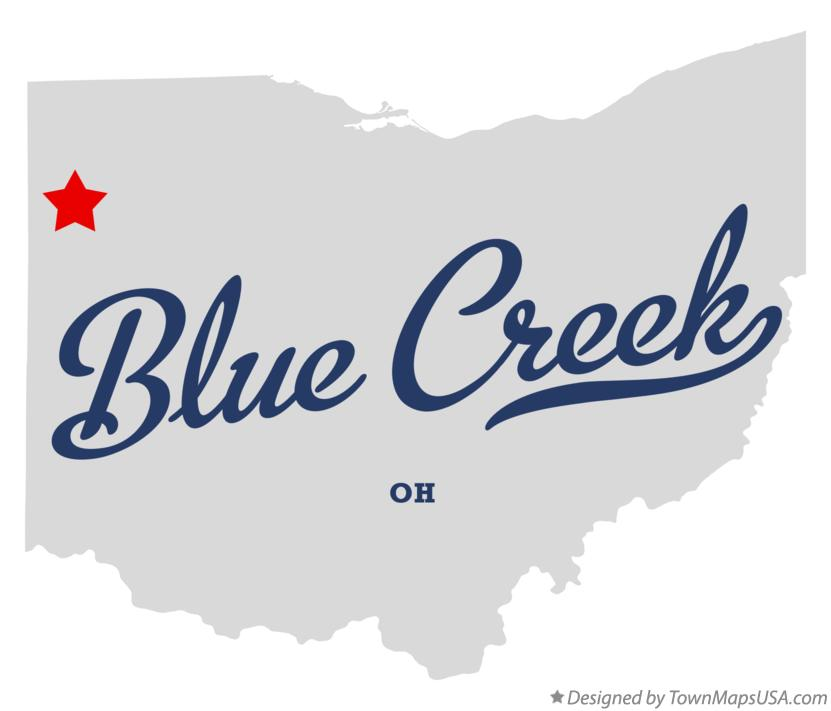 Map of Blue Creek Ohio OH