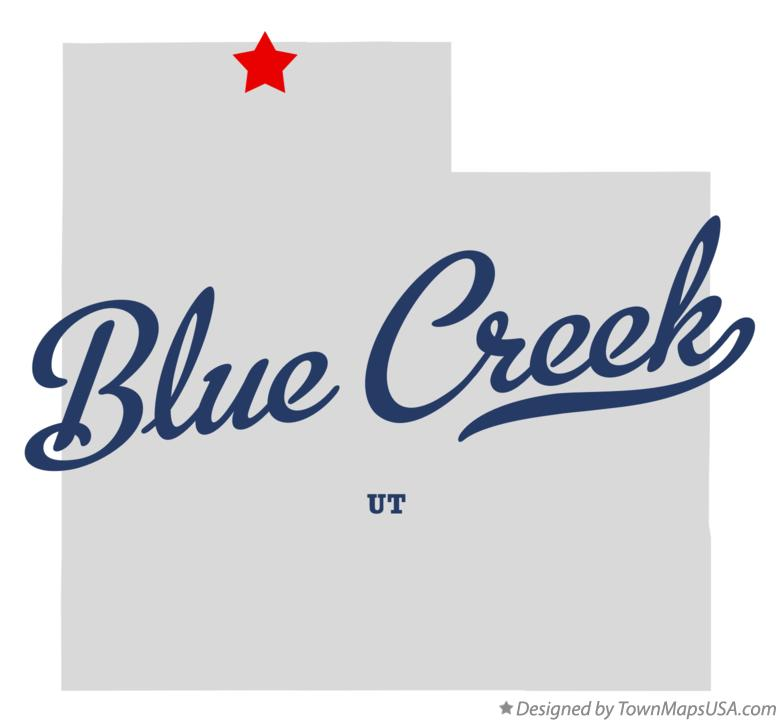 Map of Blue Creek Utah UT