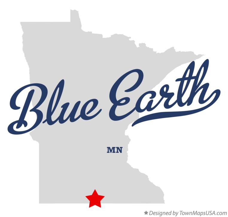 Map of Blue Earth Minnesota MN