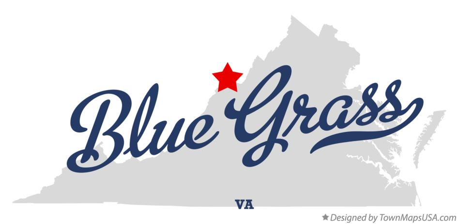 Map of Blue Grass Virginia VA