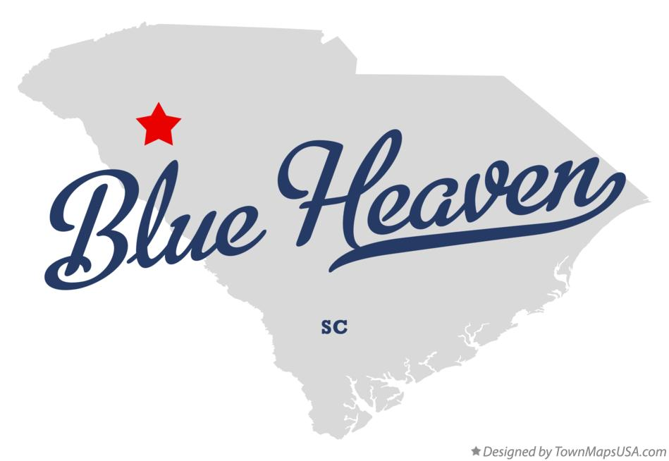 Map of Blue Heaven South Carolina SC