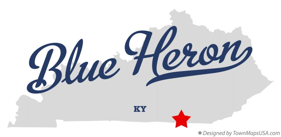 Map of Blue Heron Kentucky KY