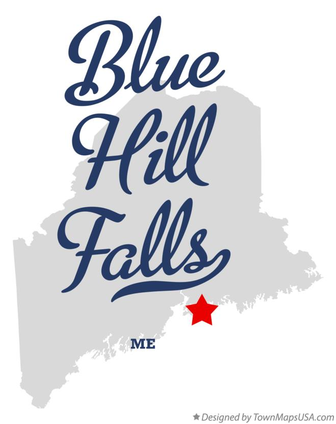 Map of Blue Hill Falls Maine ME