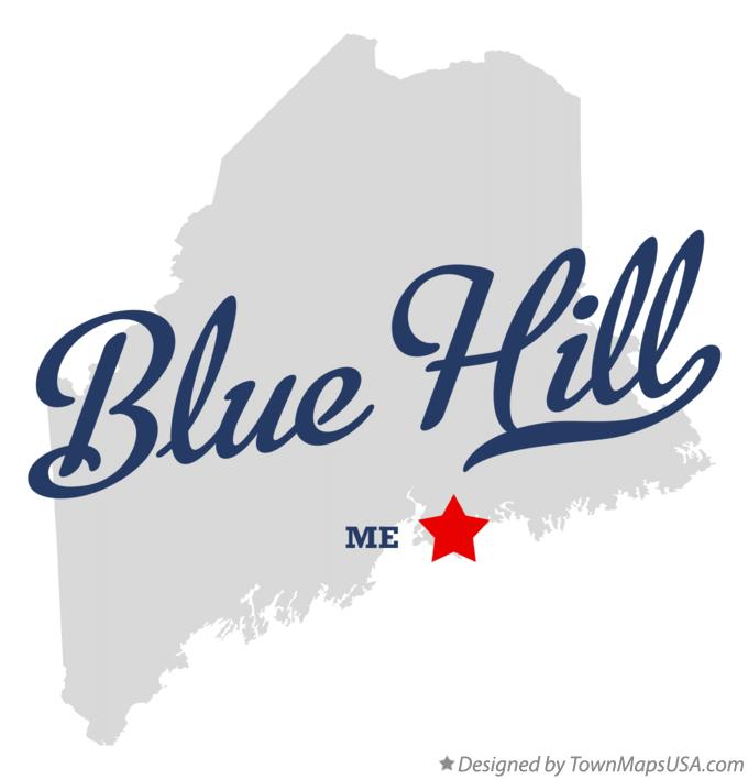 Map of Blue Hill Maine ME