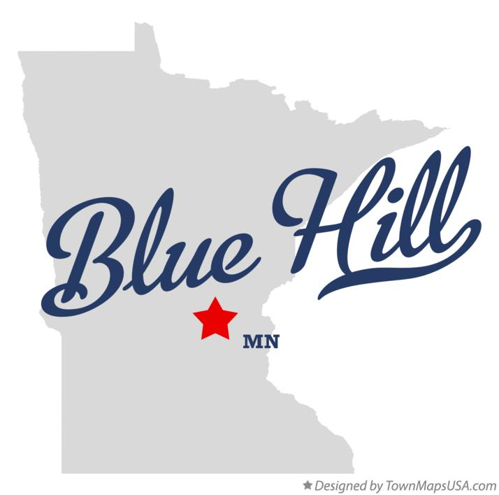 Map of Blue Hill Minnesota MN