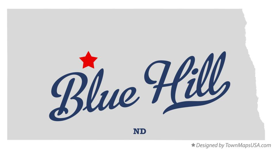 Map of Blue Hill North Dakota ND