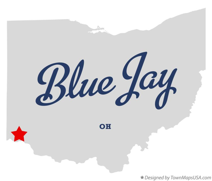 Map of Blue Jay Ohio OH