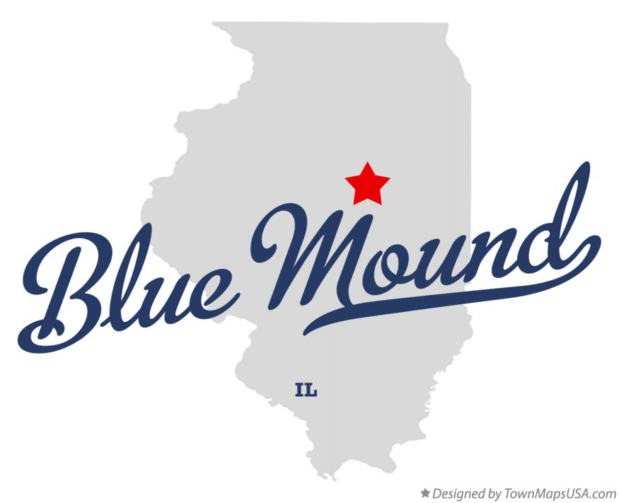 Map of Blue Mound Illinois IL