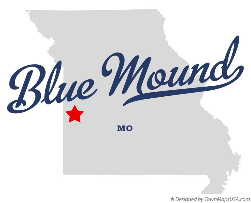 Map of Blue Mound Missouri MO