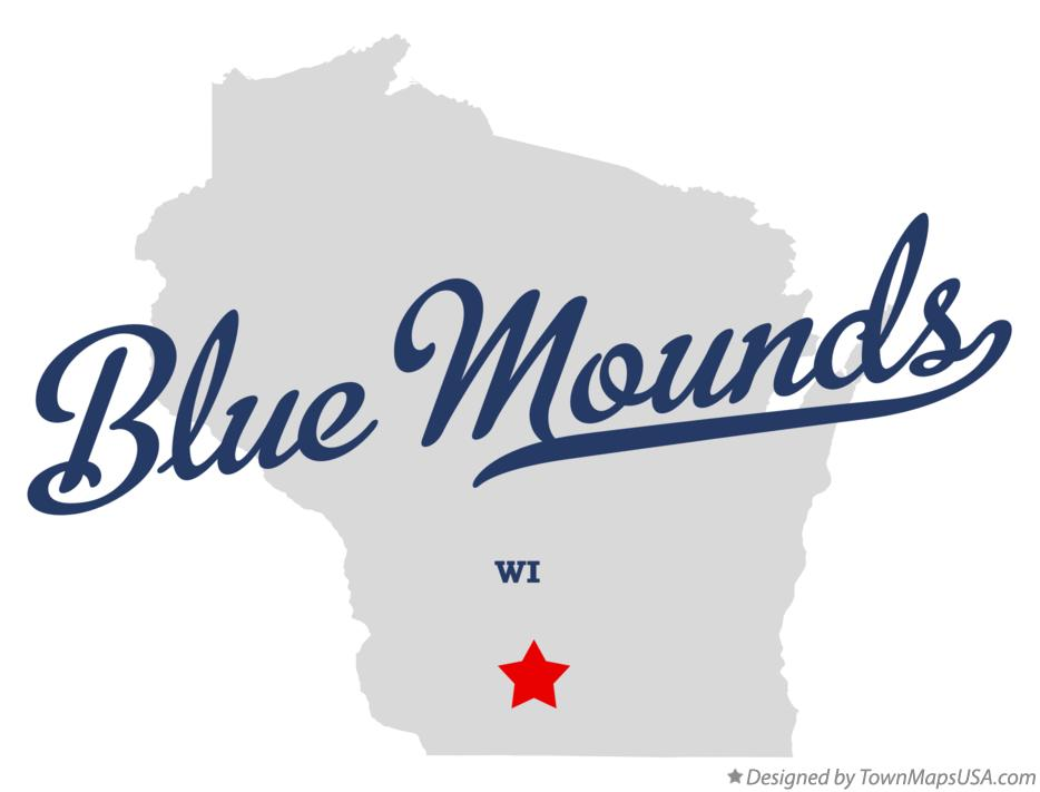 Map of Blue Mounds Wisconsin WI