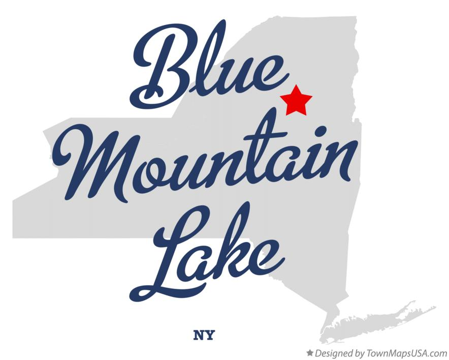 Map of Blue Mountain Lake New York NY