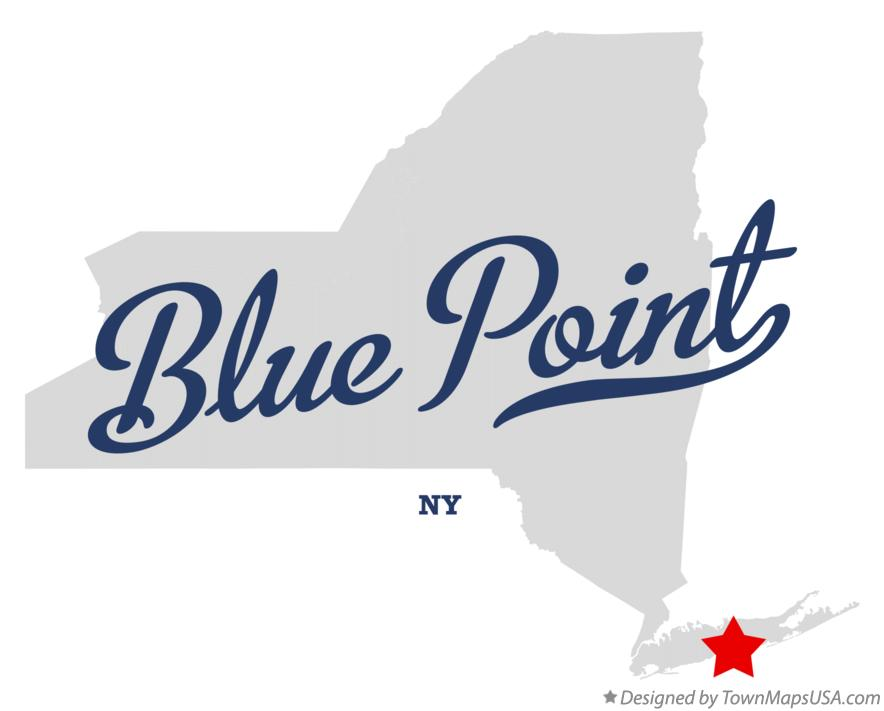 Map of Blue Point New York NY