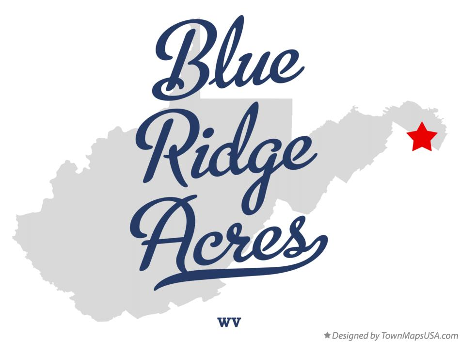Map of Blue Ridge Acres West Virginia WV