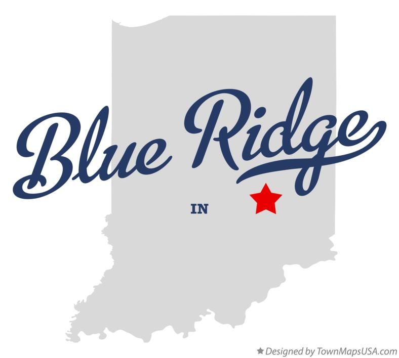 Map of Blue Ridge Indiana IN