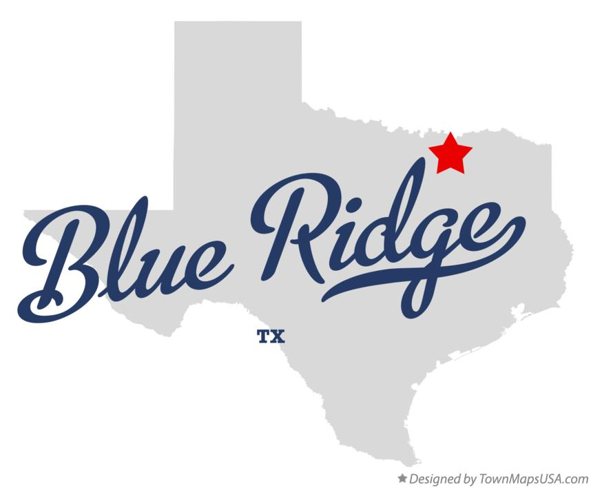 Map of Blue Ridge Texas TX