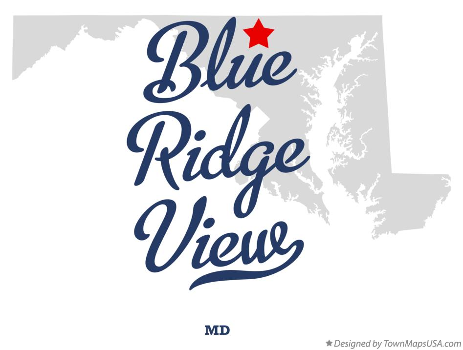 Map of Blue Ridge View Maryland MD