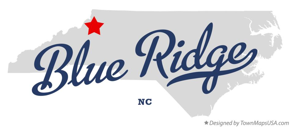 Map of Blue Ridge North Carolina NC