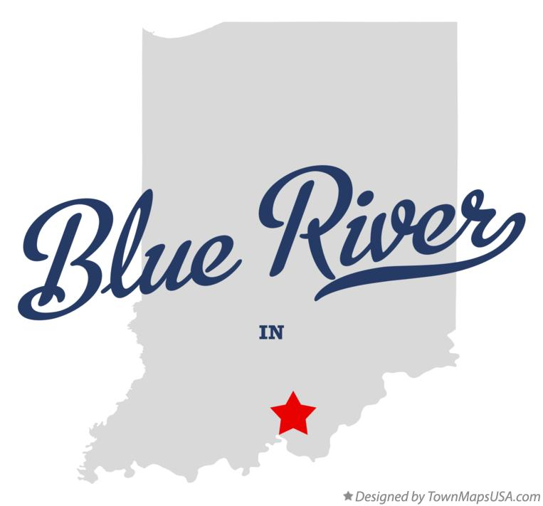 Map of Blue River Indiana IN
