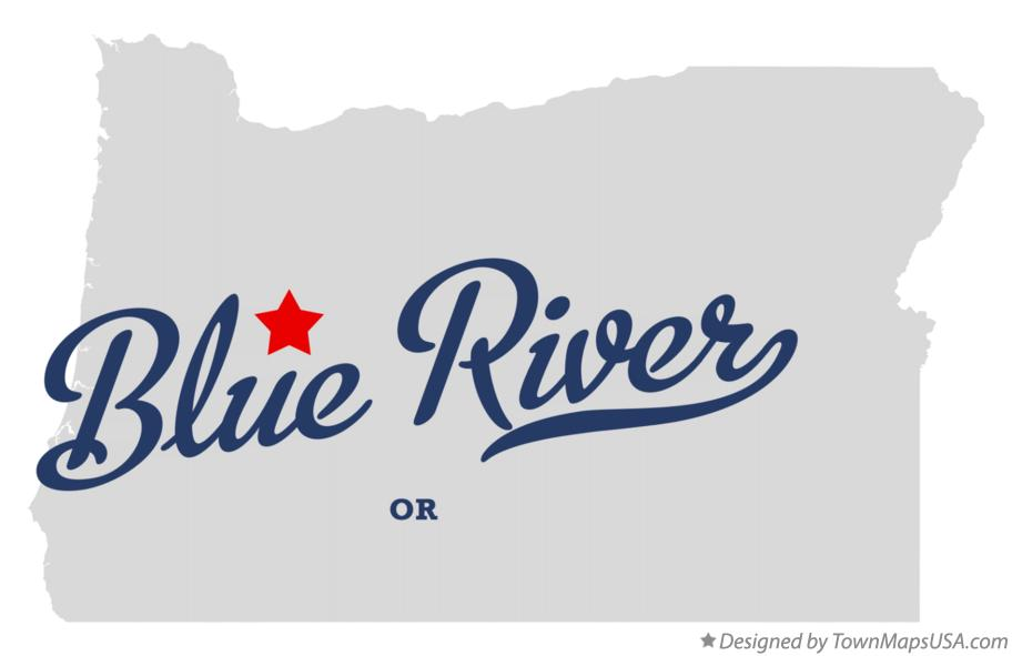 Map of Blue River Oregon OR