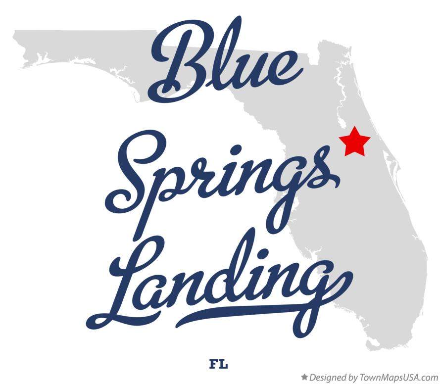 Map of Blue Springs Landing Florida FL