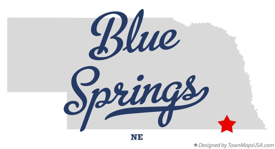 Map of Blue Springs Nebraska NE