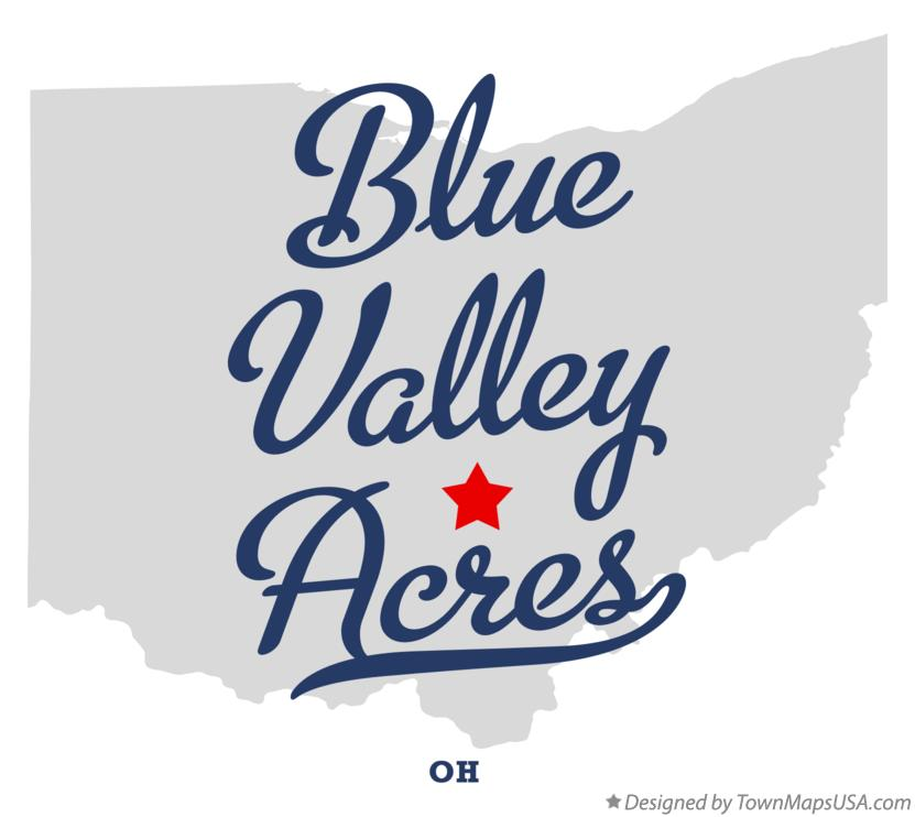Map of Blue Valley Acres Ohio OH