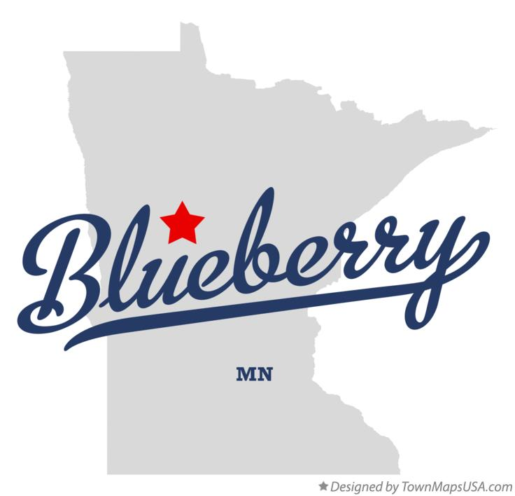 Map of Blueberry Minnesota MN