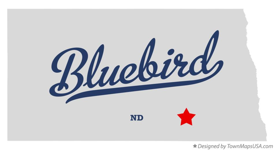 Map of Bluebird North Dakota ND