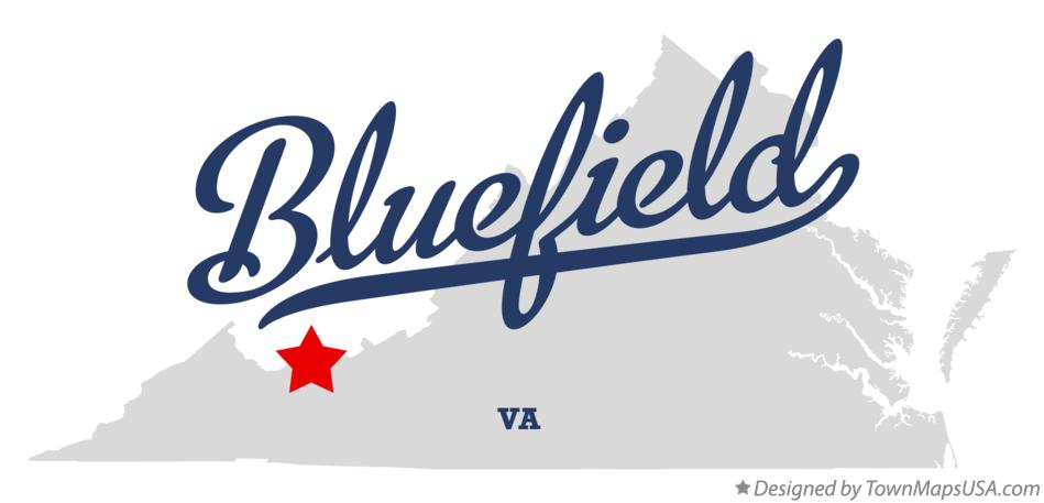 Map of Bluefield Virginia VA