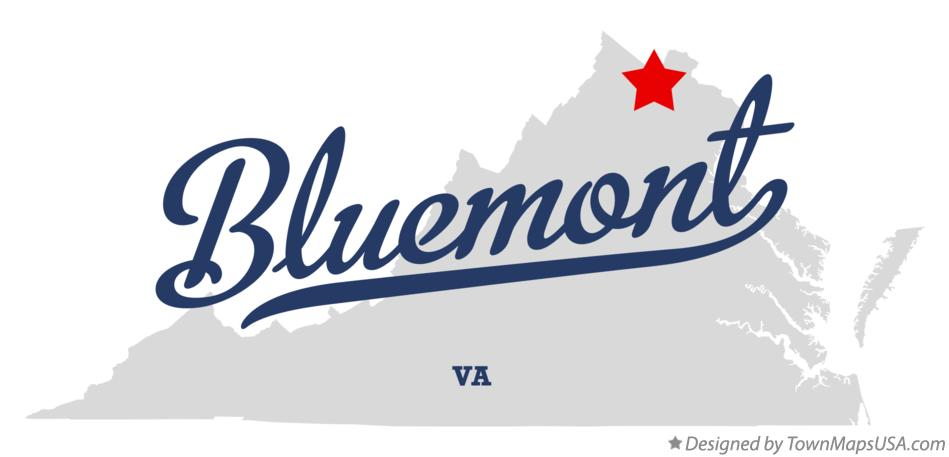 Map of Bluemont Virginia VA