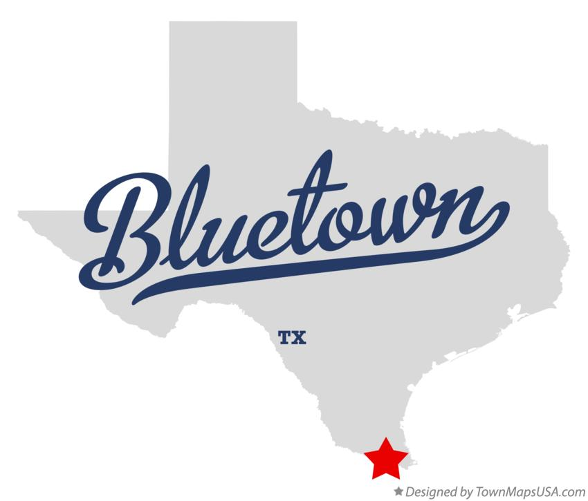 Map of Bluetown Texas TX