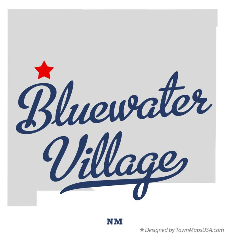 Map of Bluewater Village New Mexico NM