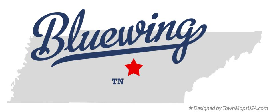 Map of Bluewing Tennessee TN