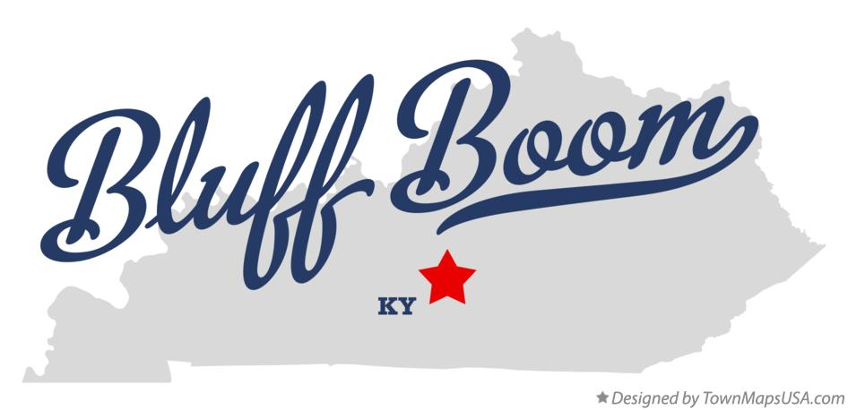 Map of Bluff Boom Kentucky KY