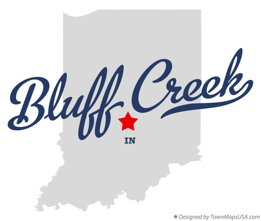 Map of Bluff Creek Indiana IN