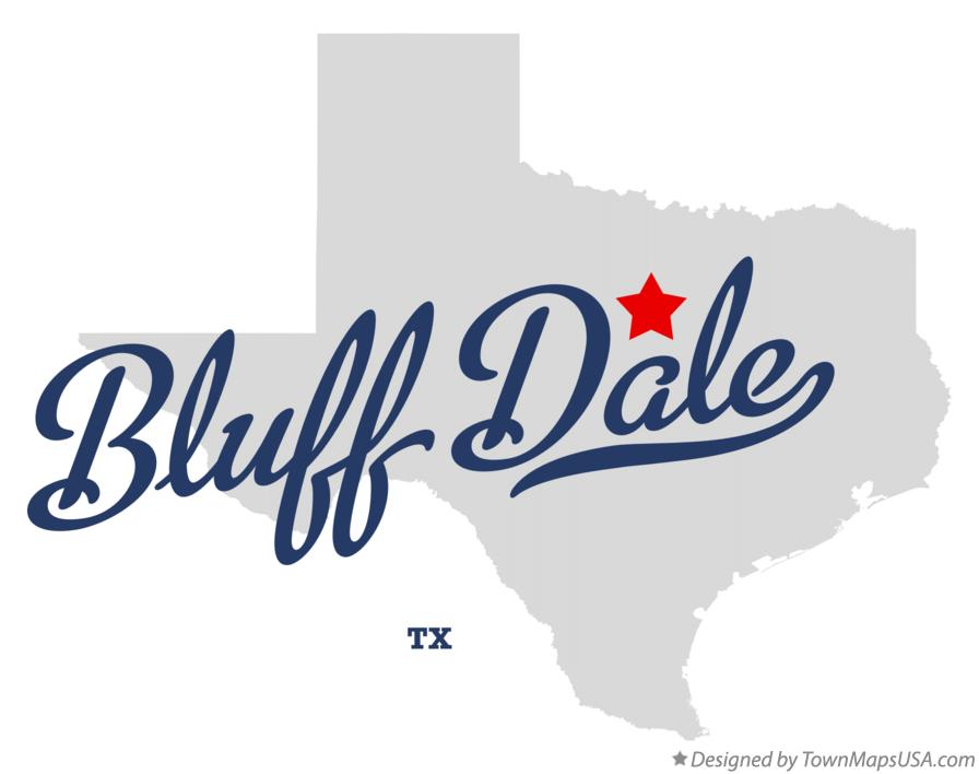 Map of Bluff Dale Texas TX
