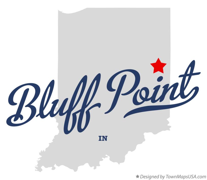 Map of Bluff Point Indiana IN