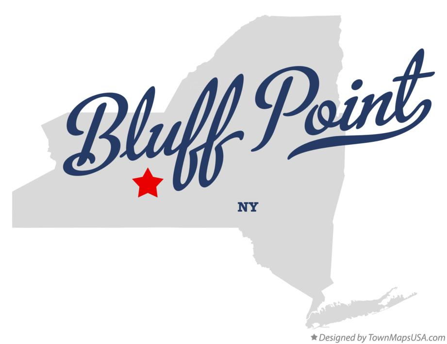 Map of Bluff Point New York NY