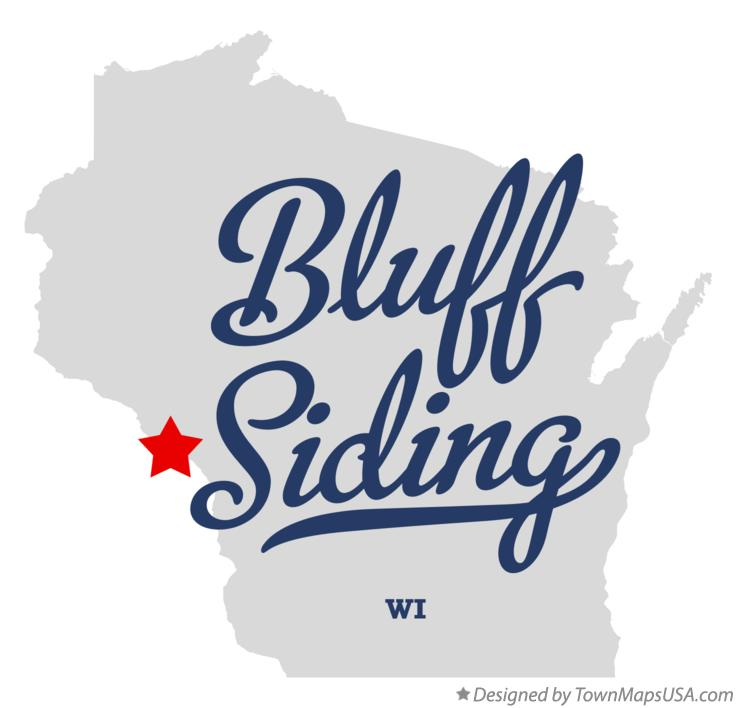 Map of Bluff Siding Wisconsin WI